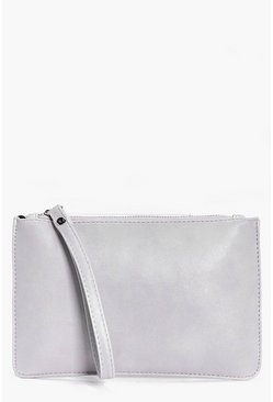 Maria Zip Top Handstrap Clutch Bag