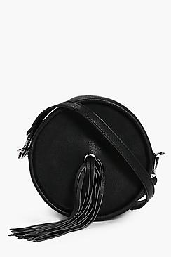 Tia Fringed Eyelet Detail Cross Body Bag