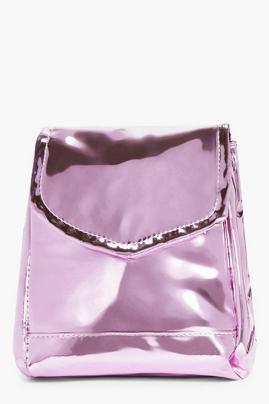 Sarah High Shine Metallic Structured Rucksack