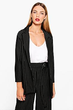 Molly Pinstripe Tailored Blazer