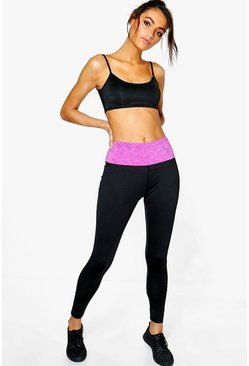 Libby Fit Fold Over Capri Yoga Leggings