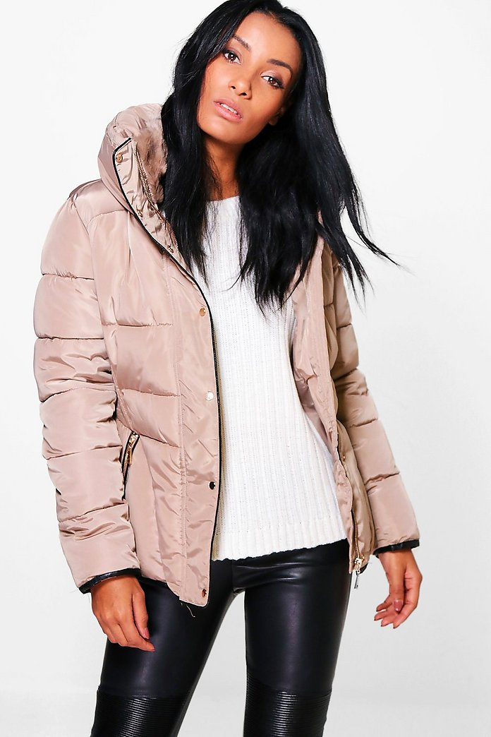 Lily Crop Bubble Coat