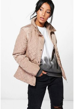 Emily Cropped Quilted Bubble Coat