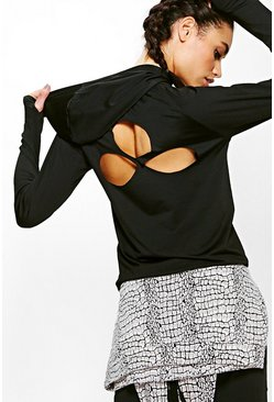 Gracie Fit Teardrop Cut Out Running Hoody