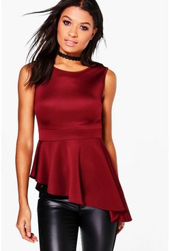Helen Asymmetrical Peplum Top