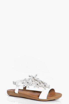Bella Flower Embellished Sandal