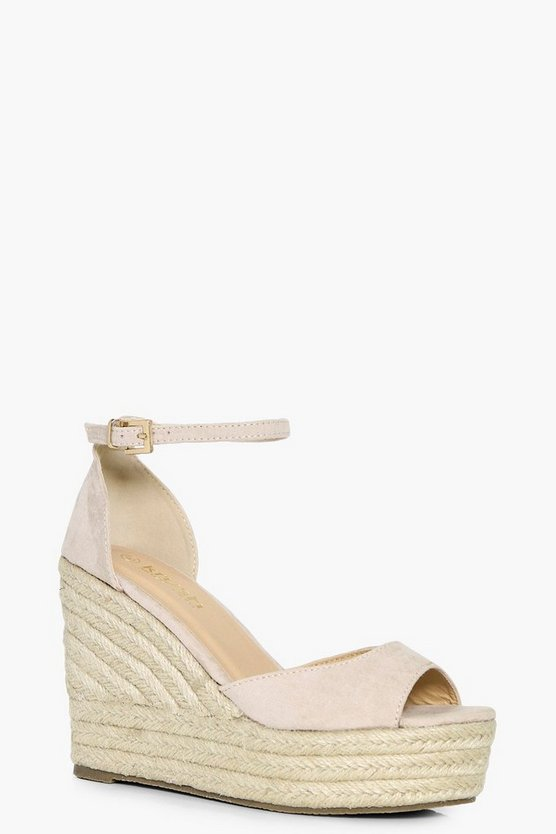 Julia Peeptoe Espadrille Wedge