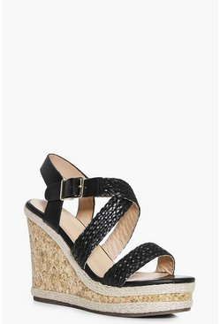 Laura Woven Strap Espadrille Wedge