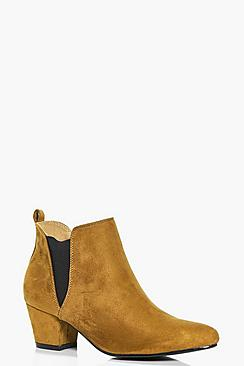 Freya Low Block Heel Chelsea Boot