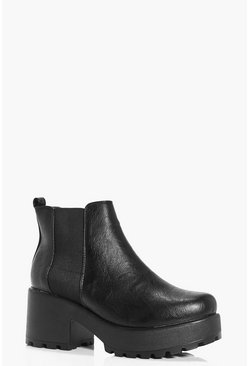 Gabriella Cleated Pull On Chelsea Boot