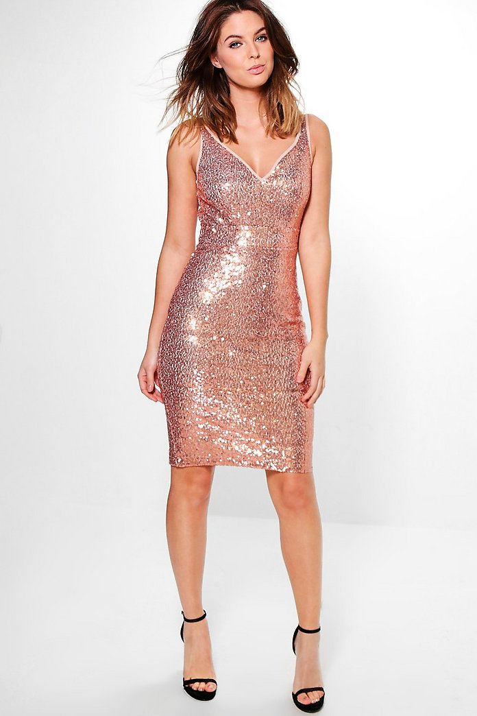 Lucy Sequin Stretch Bodycon Dress