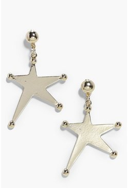 Ellie Gold Star Drop Earrings