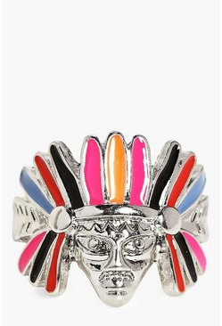 Layla Feather Headdress Navajo Boho Ring