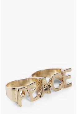 Lola Peace Slogan Double Ring