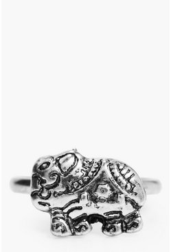 Alice Engraved Boho Elephant Ring
