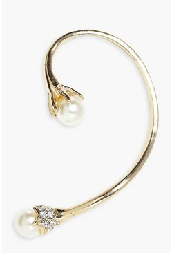 Erin Pearl Tip Wrap Around Bridal Ear Cuff
