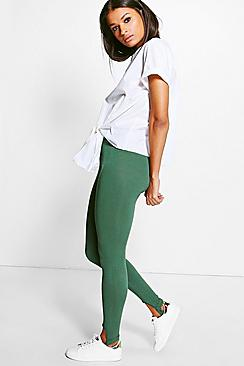 Liah Cross Front Basic Jersey Stirrup Leggings