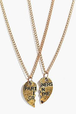 Poppy Partners In Crime 2 Piece Necklace Pack