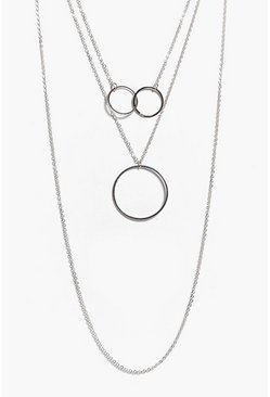 Sophie Interlinked Circle Layered Necklace