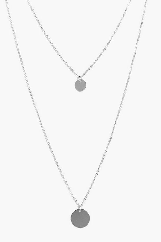 Emily Coin Pendant Layered Necklace