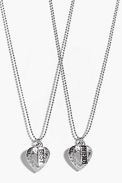 Grace Best Friends Heart Locket Necklace Pack