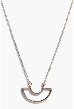 Evie Long Minimalist Pendant Skinny Necklace