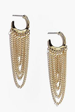Lexi Small Hoop Chain Chandelier Earrings