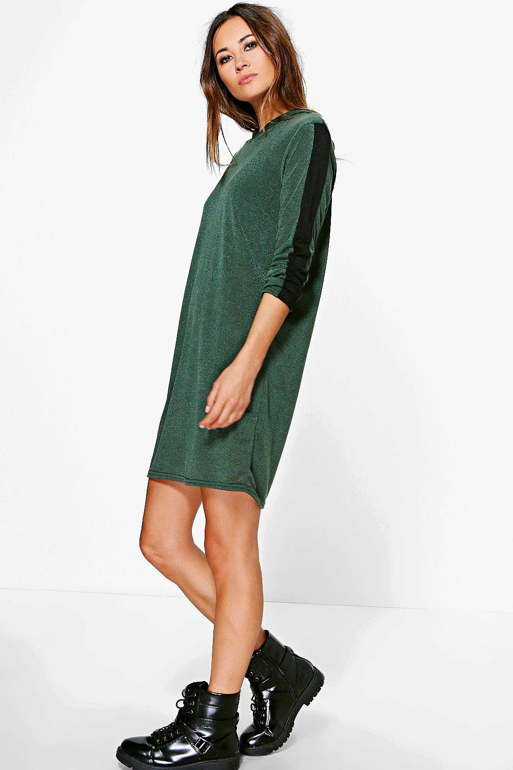 Maria Marl Knit Hoodie Dress