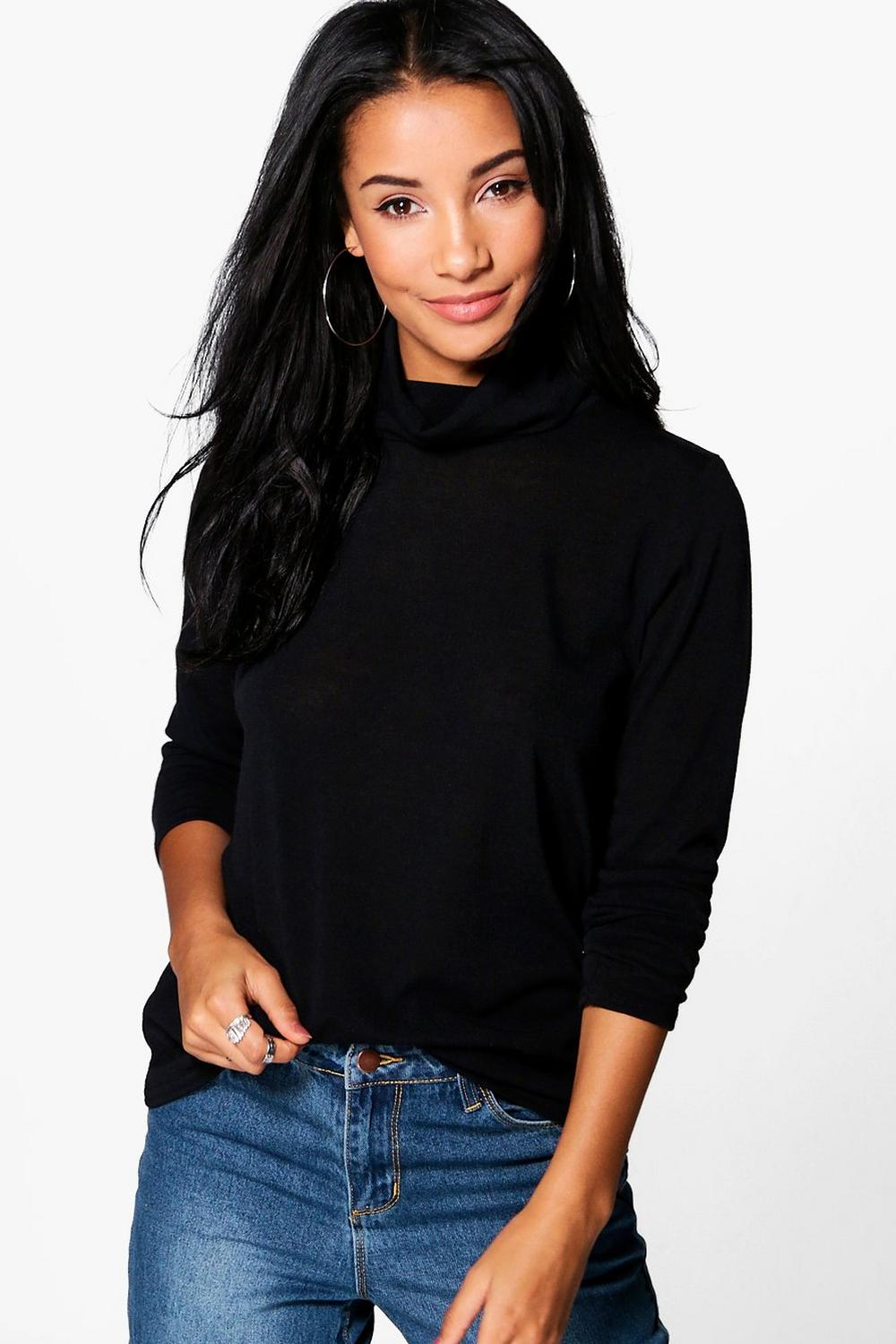 Emily Roll Neck Fine Knit Jumper