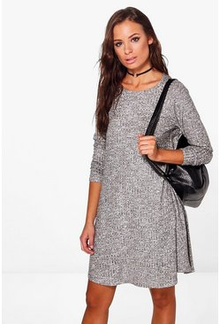 Grace Rib Knit Swing Dress