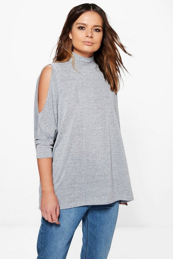Imogen Batwing Cold Shoulder Oversized Jumper