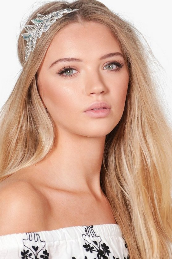 Saffron Bead & Sequin Bridal Head Band