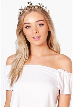 Faye Boutique Leaf Detail Head Crown