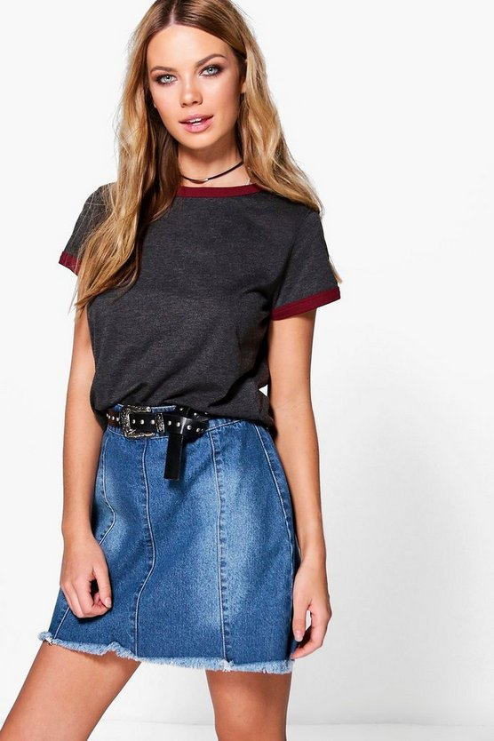 Connie Contrast Ringer T-Shirt