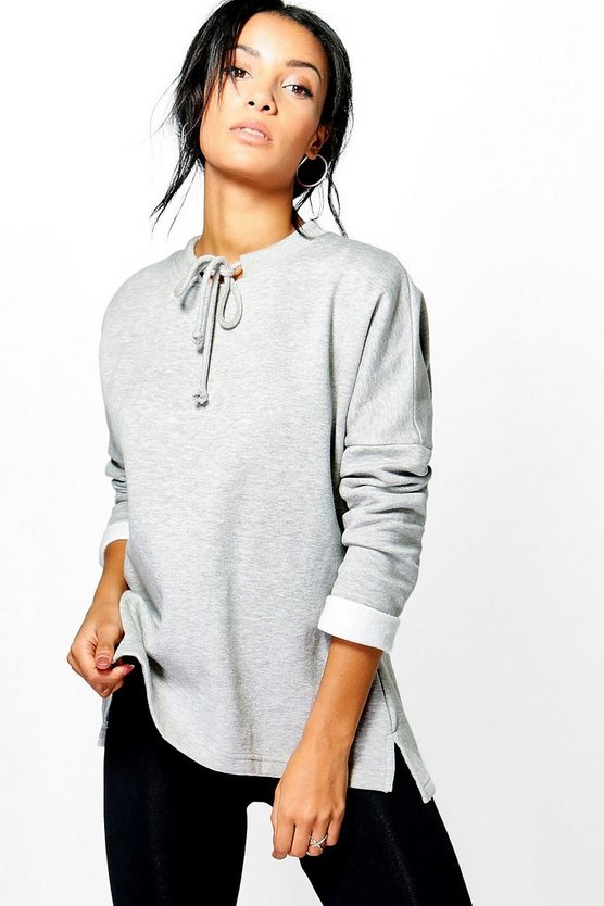 Joy Tie Neck Sweatshirt
