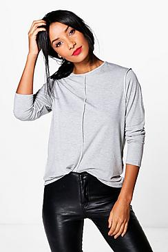Elizabeth Seam Detail Long Sleeve T-Shirt