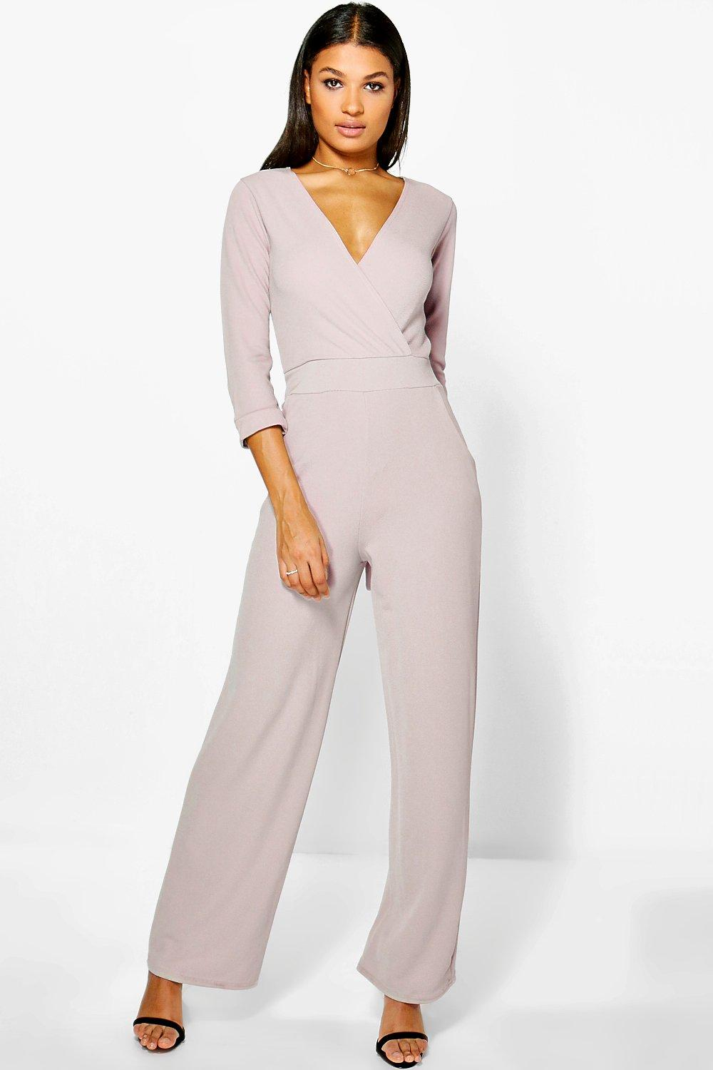 Eve Roll Sleeve Relaxed Wide Leg Jumpsuit