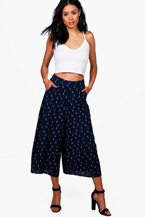 Airlia Eiffel Tower Wide Leg Culottes