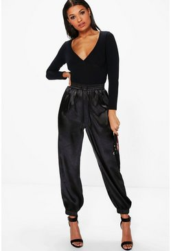 Lorena Satin Relaxed Hareem Trousers