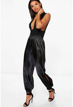 Orianna Split Leg Satin Hareem Trousers