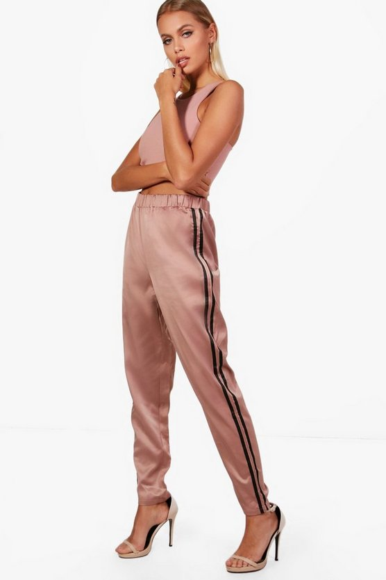Carmela Contrast Side Stripe Slim Fit Trousers