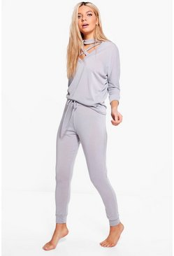 Lois Choker Jumper & Jogger Knitted Lounge Set