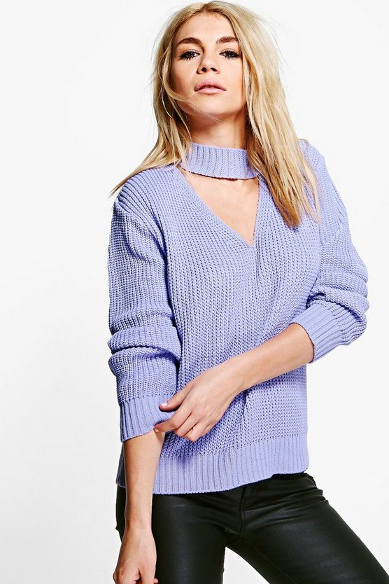 Alice Asymmetric Choker Jumper