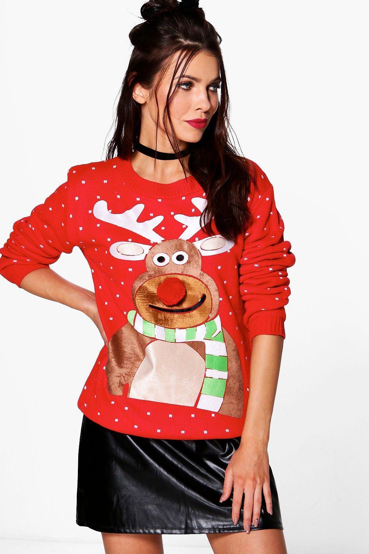 boohoo red christmas jumper