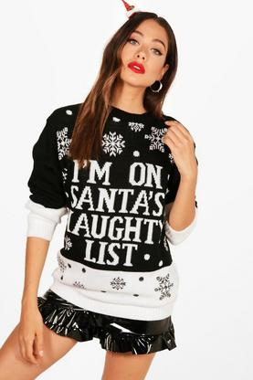 Hannah Santa's Naughty List Christmas Jumper