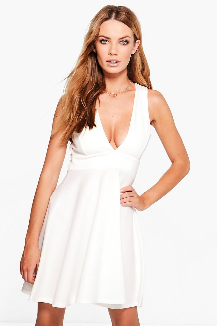Nicole Strappy V Neck Skater Dress