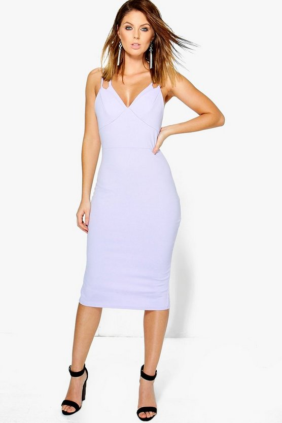 Trixy Strappy Cup Detail Midi Dress