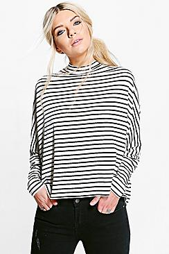 Poppy Oversized Batwing Stripe Tee