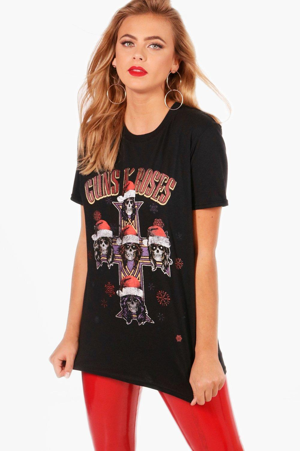 Clare Guns 'N' Roses Christmas Band T-Shirt