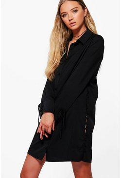 Paige Button Side Shirt Dress